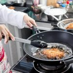 Padella per friggere con cestello